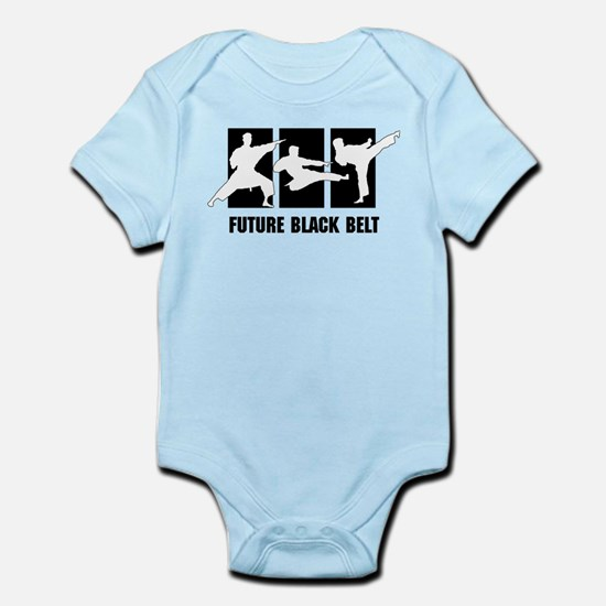 Future Black Belt Infant Bodysuit