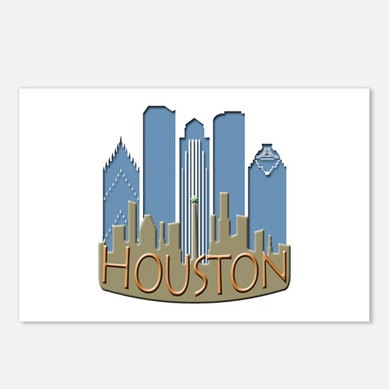 Houston Skyline NewWave Beachy Postcards (Package