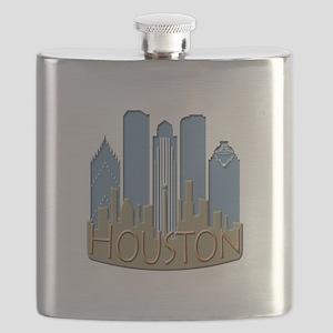 Houston Skyline NewWave Beachy Flask