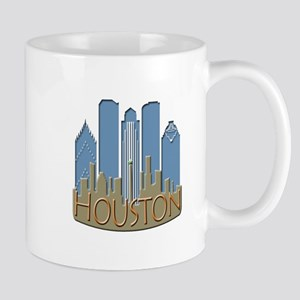 Houston Skyline NewWave Beachy Mug