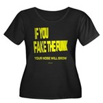 Fake The Funk Women's Plus Size Scoop Neck Dark T-