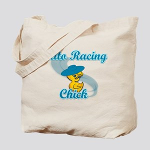 Auto Racing Chick #3 Tote Bag