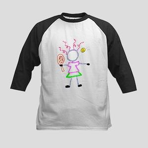 Tennis Girl - ArtinJoy Kids Baseball Jersey