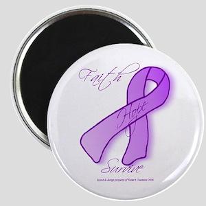Purple Ribbon Magnet
