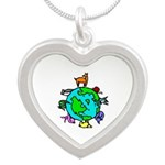 Animal Planet Rescue Silver Heart Necklace