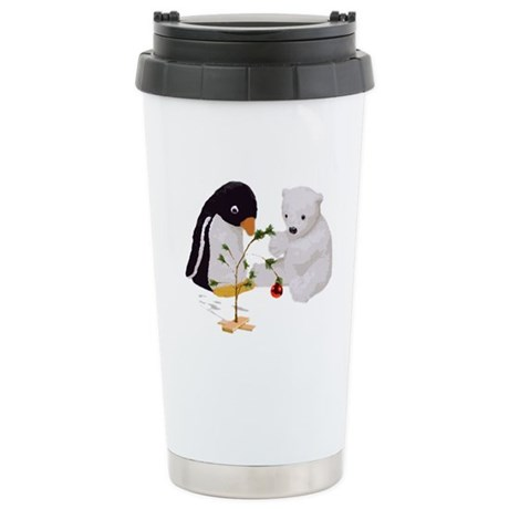 Penguin Polar Bear Friends Chri Stainless Steel Tr