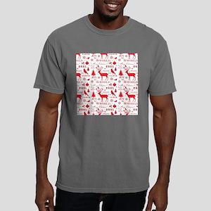 Christmas Reindeer Mens Comfort Colors Shirt