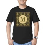 Olive Yeux Monogram Men's Fitted T-Shirt (dark)