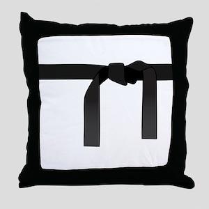 Black Belt Throw Pillow