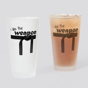I Am The Weapon Drinking Glass