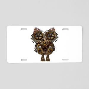 Large Steampunk Owl Aluminum License Plate