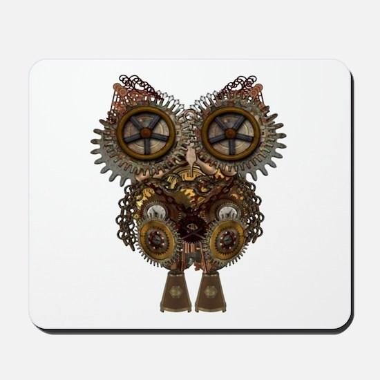 Large Steampunk Owl Mousepad