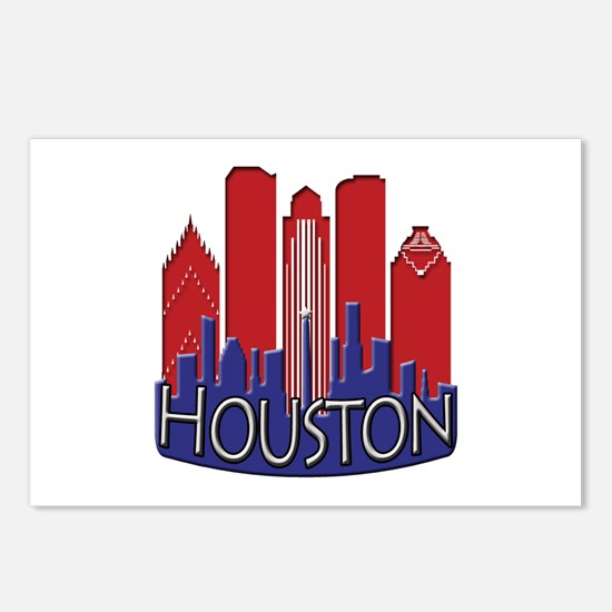 Houston Skyline NewWave Patriot Postcards (Package