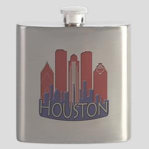 Houston Skyline NewWave Patriot Flask