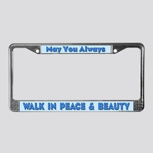Peace & Beauty License Plate Frame