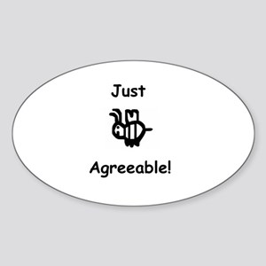Just B Agreeable Sticker (Oval)