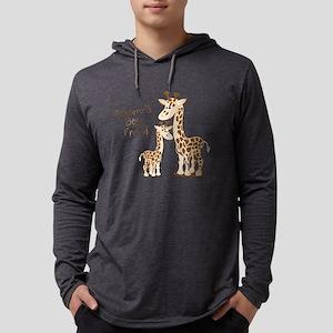 Giraffe, Mommy's Best Friend Mens Hooded Shirt