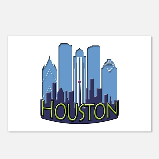 Houston Skyline NewWave Cool Postcards (Package of