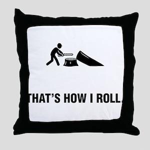 Logger Throw Pillow