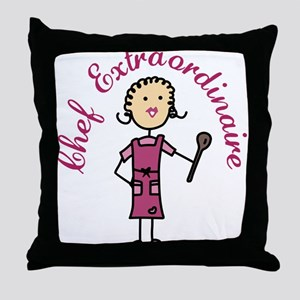 Chef Extraordinaire Throw Pillow
