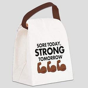 Sore Today Arm Emoji Canvas Lunch Bag