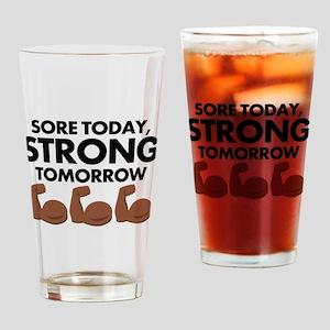 Sore Today Arm Emoji Drinking Glass
