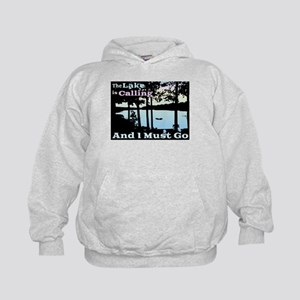 The Lake is Calling and I Must Go Kids Hoodie