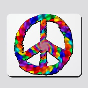 Psychedelic Peace Sign Mousepad