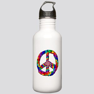 Psychedelic Peace Sign Stainless Water Bottle 1.0L
