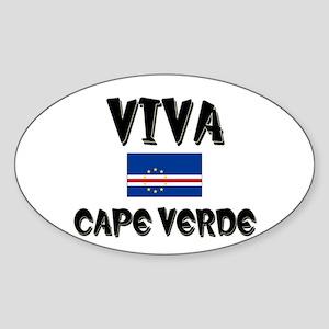 Viva Cape Verde Oval Sticker