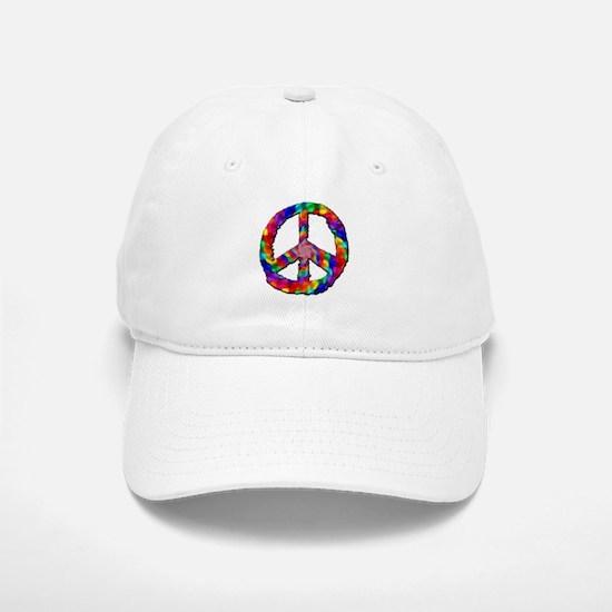 Psychedelic Peace Sign Baseball Baseball Cap