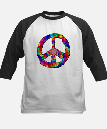 Psychedelic Peace Sign Kids Baseball Jersey