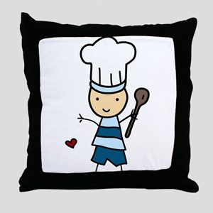 Little Chef Boy Throw Pillow