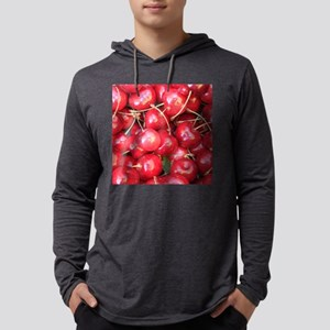 Red Cherries photography Mens Hooded Shirt