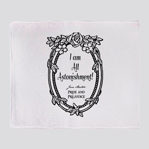 I Am All Astonishment Throw Blanket