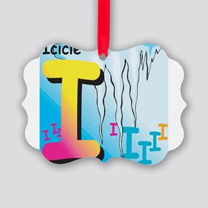 I for Icicle Picture Ornament