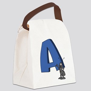 A For Ant Canvas Lunch Bag