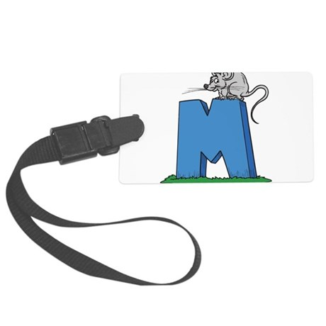 M For Mouse Large Luggage Tag