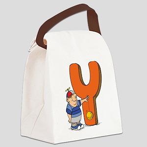 Y For Yoyo Canvas Lunch Bag