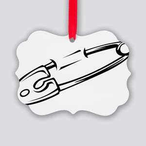Safety Pin Picture Ornament