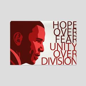 Obama Red Tones Rectangle Magnet