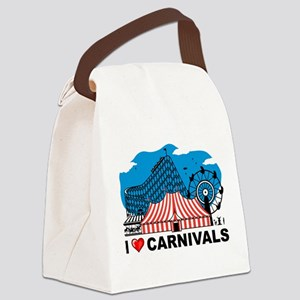 I Love Carnival Canvas Lunch Bag