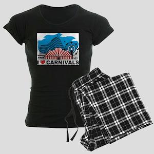 I Love Carnival Women's Dark Pajamas