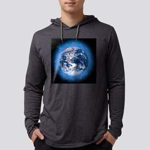 Greenhouse effect, conceptual im Mens Hooded Shirt