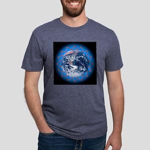 Greenhouse effect, conceptu Mens Tri-blend T-Shirt