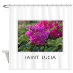 St_Lucia Floral Shower Curtain