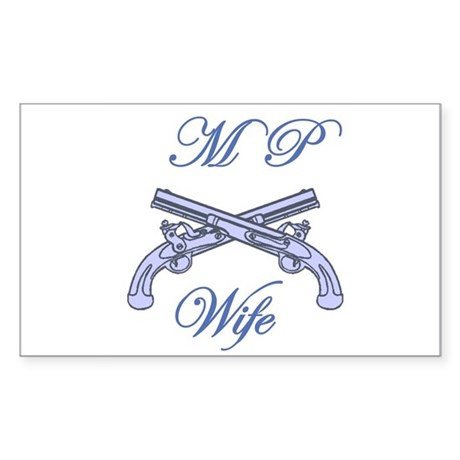 mp wife Rectangle Sticker