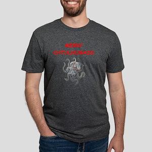 a chtulhu christmas Mens Tri-blend T-Shirt