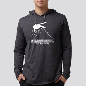white AK wildlife Mens Hooded Shirt