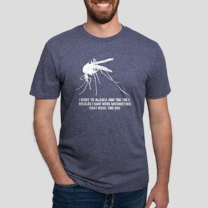 white AK wildlife Mens Tri-blend T-Shirt